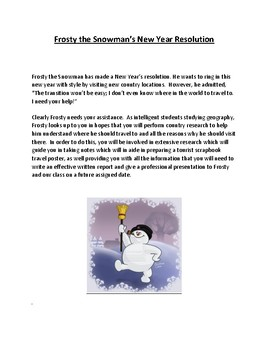 Frosty the Snowman Country Report