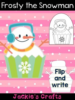 Frosty the Snowman Cupcake - Jackie's Crafts, Winter Activities, Christmas