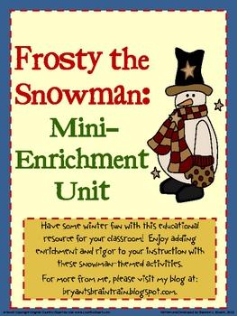 Frosty the Snowman: Mini-Enrichment Unit