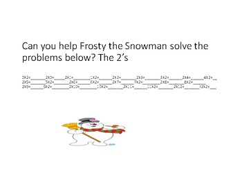 Frosty the Snowman Multiplication Packet
