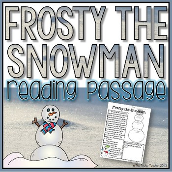 Frosty the Snowman Reading Passage ☃