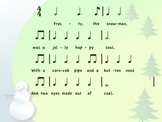 Frosty the Snowman- Rhythm & Melody reading + a Meter Sort