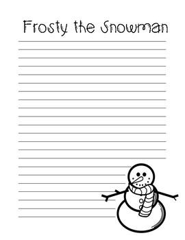 Frosty the Snowman Summary Freebie