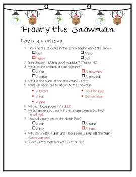 Frosty the Snowman movie questions, appreciation, etc.