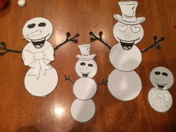 Frosty the Snowman's Winter/Christmas Family Genetics Project