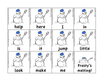 Frosty's Melting! Dolch Sight Words - PrePrimer through Grade 3