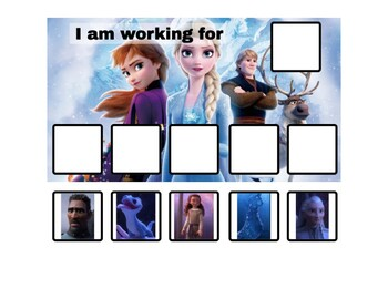 Frozen 2 Token Board with New Characters! - 2 options!