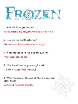 Frozen- A 7 Day unit using the movie to teach analysis and literary skills