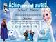 Frozen Achievement award English / Spanish version