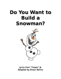 Frozen Adapted Interactive Snowman Story