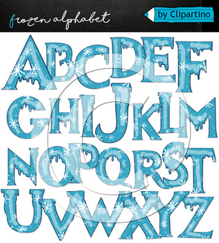 Christmas Alphabet Clipart #3 Frozen