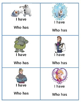 Frozen BLANK - I have; Who has game