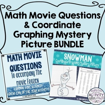 Christmas Math Movie Questions and Coordinate Graphing Mys
