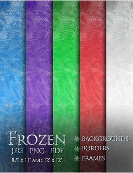 Frozen - Backgrounds, Borders and Frames