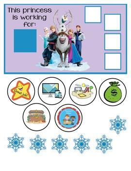 "Frozen Behavior Chart "" I am working for"""