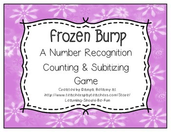 Frozen Bump:  A Counting, Adding, & Subitizing Game