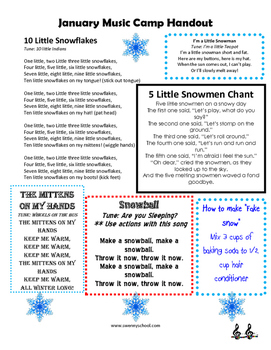 Frozen Camp Handout