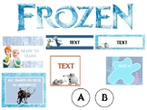 Frozen Classroom Theme Pack - EDITABLE