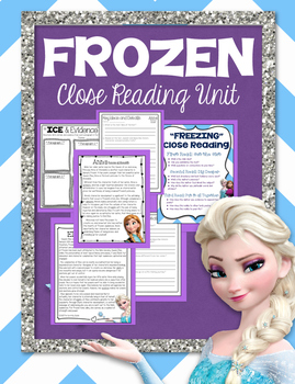 Winter Close Reading and Writing (Frozen Themed)