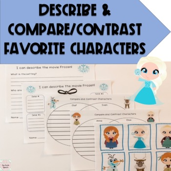 Frozen Companion Pack (Speech & Language Therapy CCSS)