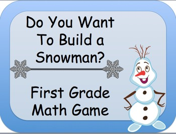 Frozen: Do You Want To Build a Snowman?  Two first grade common core math games