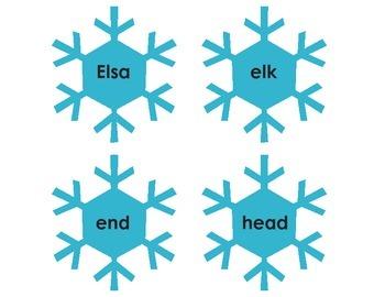 Frozen: Elsa vowel word sort