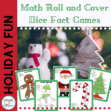 Winter Holiday Math Facts Dice Games for Addition & Subtraction