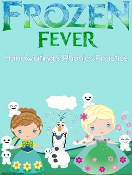Frozen Fever Handwriting and Phonics Practice