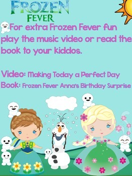Frozen Fiebre Congelada Práctica de escritura y Fonética