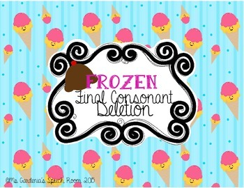 Final Consonant Deletion Activity