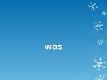 Frozen Fry (Sight) Words Powerpoint Game: Kindergarten