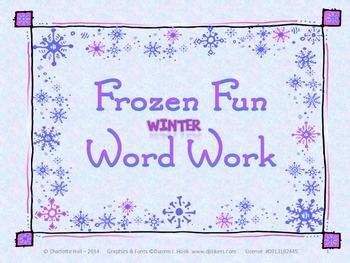 Frozen Fun Winter Word Work