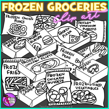 Frozen Groceries clip art
