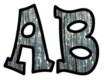 Frozen Icicle Bulletin Board Letters