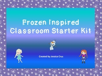 Frozen Inspired Classroom Starter Kit