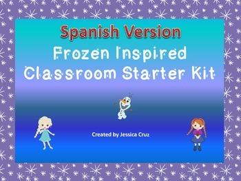 Frozen Inspired Classroom Starter Kit - SPANISH VERSION