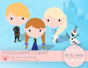 Frozen Inspired Clip Art