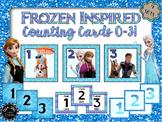 Frozen Inspired Calendar Cards
