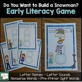 Early Literacy Games- Frozen Princess Theme