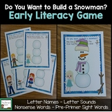 Early Literacy Games- Frozen Princess Theme