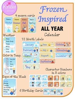 Frozen Inspired FULL YEAR calendar