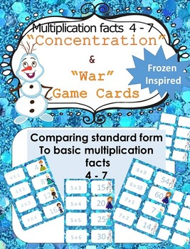 Multiplication facts 0-12 Bundle - Frozen themed