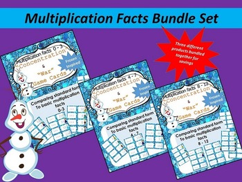 Multiplication facts 0-12 Bundle - Frozen themed
