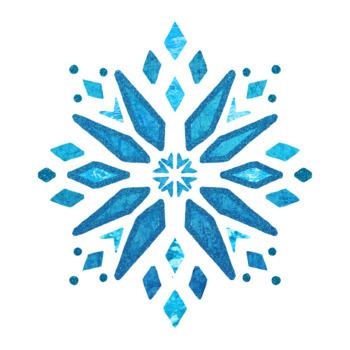 Frozen Inspired Snowflakes Clip Art