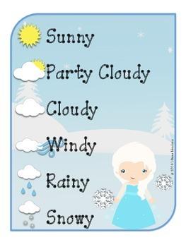 Frozen Inspired Winter Calendar