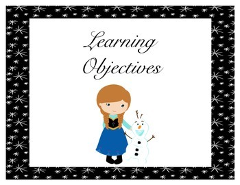 Frozen Learning Objectives Posters