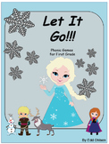 Frozen: Let it Go Phonic Games & Bonus Math Games for First Grade Centers