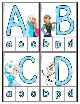 Frozen: Matching Uppercase to Lowercase Letters