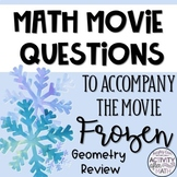 Math Movie Questions to accompany Frozen. Great Christmas