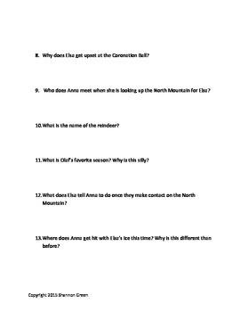 Frozen Movie Questions